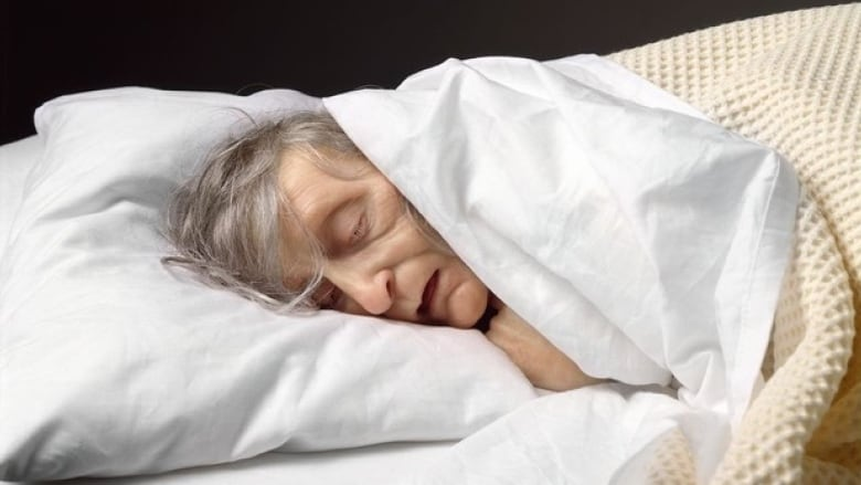 One of the photographs in the Night of Ideas exhibit at Hart House. Ron  Mueck, Old Woman in Bed (detail), 2002. (Ron Mueck, courtesy of Anthony  d'Offay, ...