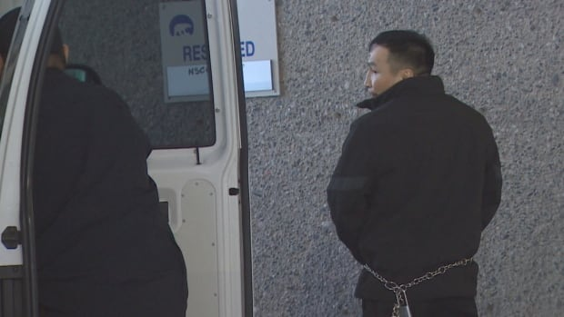 Kevin Mantla is pictured at the courthouse in Yellowknife on Jan. 25, 2018. He is charged with second-degree murder, attempted murder and aggravated assault.