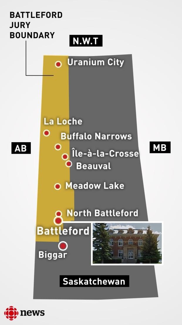Battleford Jury Boundary
