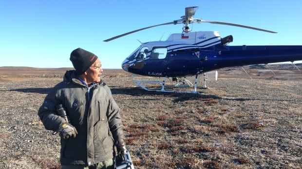 Hall Beach, Nunavut, hamlet councillor and hunters and trappers organization member Danny Arvalaq at the site of North Arrow Minerals Inc. proposed Mel exploration camp looking for signs of traditional use. The company expects to make exploratory drills in the area this summer.