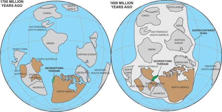 Australia Map 1700.Long Lost Chunk Of Canada Found In Australia Cbc News