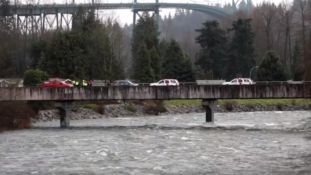 Search on for kayaker feared drowned in Capilano River