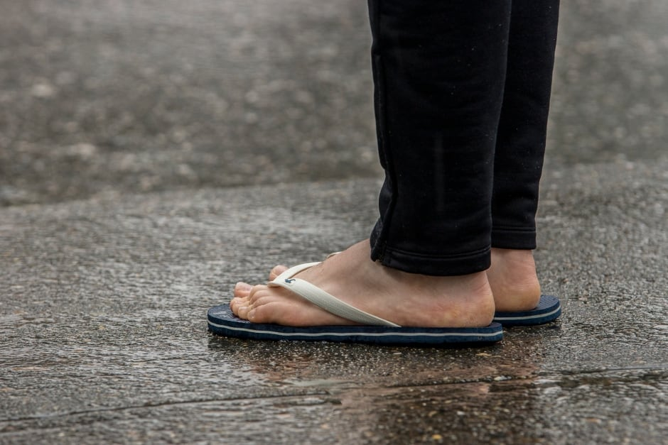 Flip flips in the Rain Vancouver