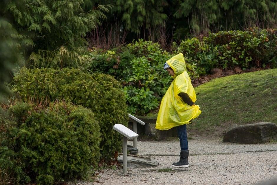 Tourist Vancouver Rain Poncho