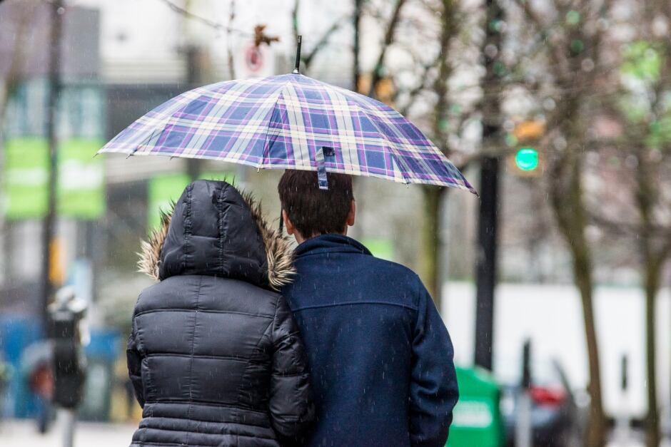 Rain Umbrella Couple Vancouver