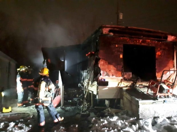New Glasgow mobile home fire