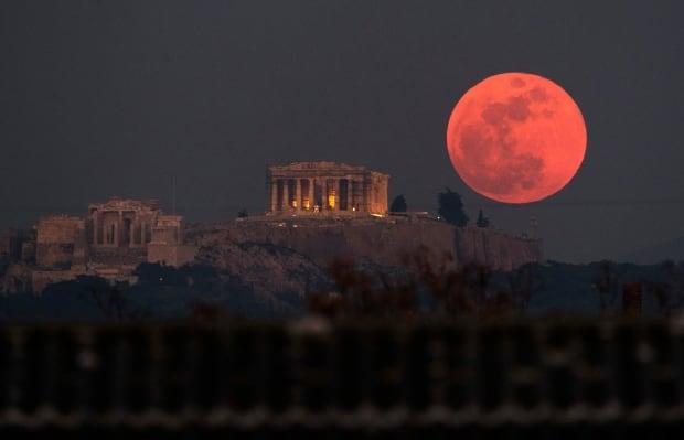 Greece Lunar eclipse