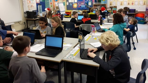 Putting chromebooks into the hands of students at Paradise Elementary is one of the achievements that netted honours for the principal there.