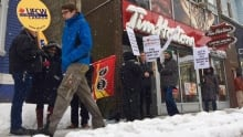 minimum wage time hortons protest halifax