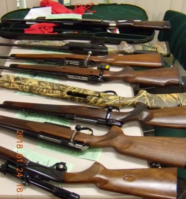 Seized weapons