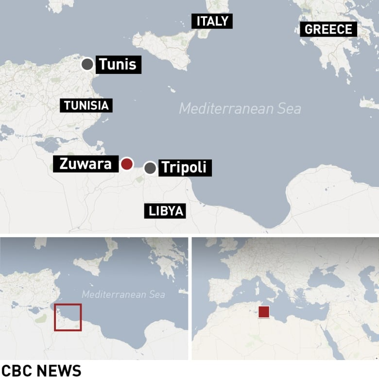 Libya To Italy Map.90 Migrants Feared Dead After Boat Capsizes Off Libya Cbc News