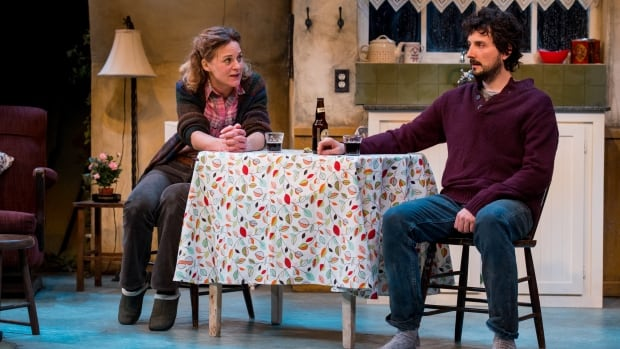 Alicia Johnston and Mike Nadajewski in the Royal Manitoba Theatre Centre's Outside Mullingar, a romantic comedy delivered with enough quirk, wit and Irish charm to still feel fresh.