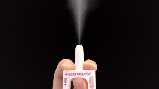 When sprayed up a person's nose, Narcan nasal spray can quickly deliver a life-saving dose of the opioid antidote nalaxone through nasal membranes.