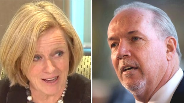 Alberta Premier Rachel Notley and B.C. Premier John Horgan continue to be locked in a dispute over the B.C. government's decision to explore a temporary cap on increased bitumen exports.