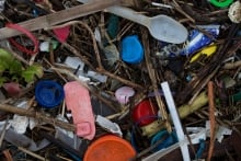 Plastic waste in Kent, England
