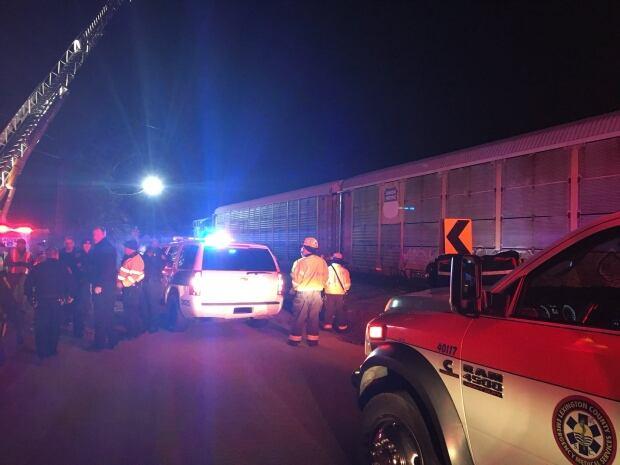 South Caroline train derailment