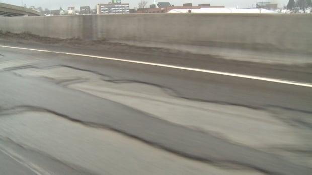 Conditions on the bridge are worst in the westbound lane. It will be reduced to one lane all day from 9 a.m.