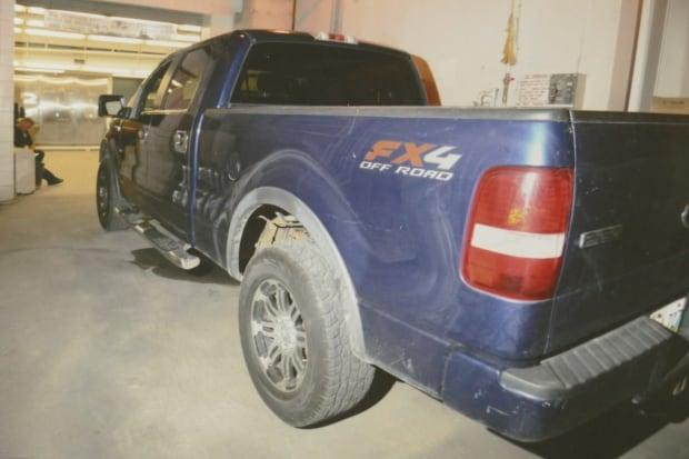 Blue truck Tina Fontaine