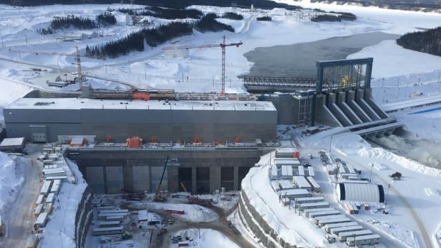 This is a January 2018 photo of the Muskrat Falls hydroelectric construction project on the Churchill River in central Labrador, near Happy Valley-Goose Bay.