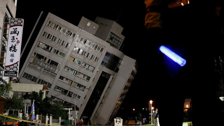 Hotel collapses after 6.4 magnitude natural disaster strikes Taiwan