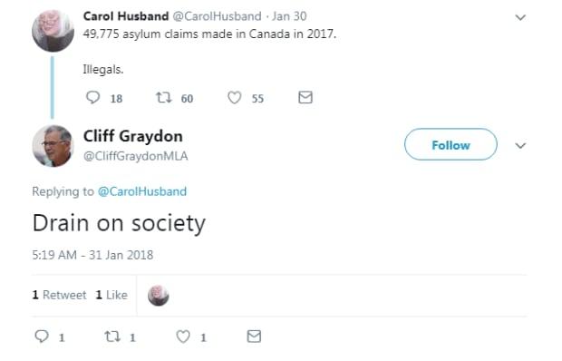 Cliff Graydon tweet