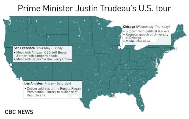 Trudeau's U.S. tour