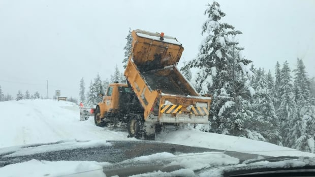 Crews are working around the clock to try to keep up with heavy snowfall in Williams Lake, B.C.