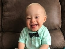 """Lucas Warren of Dalton, Ga., won over executives at Gerber baby food who have made him their """"spokesbaby"""" this year. Lucas is Gerber's first spokesbaby with Down syndrome in the company's 91-year history."""