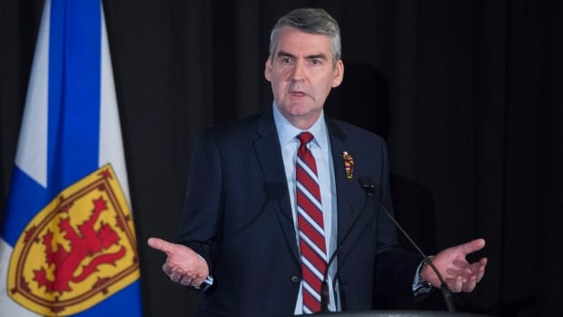 Premier Stephen McNeil delivers his annual state-of-the-province speech to the Halifax Chamber of Commerce on Wednesday, Feb. 7, 2018.
