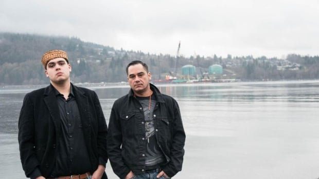 Cedar George (L) and Will George are organizing a March demonstration against the pipeline. They say the event is a spiritual and cultural event and has been in the works for two years.