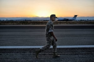 Soldier at Airbase