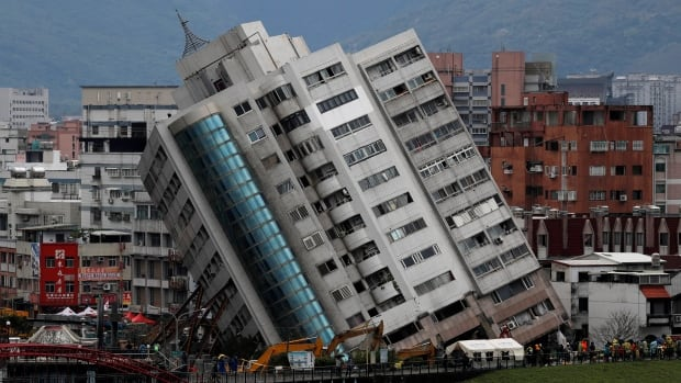 7 may be trapped in quake-hit Taiwan building