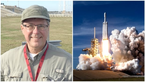 Don Hladiuk watched from just a few kilometres away as the Falcon Heavy rocket launched.