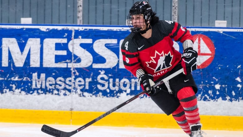 d046c05337f Brigette Lacquette plays in a women s Four Nations Cup match against  Finland in November 2016. (Riku Laukkanen Hockey Canada Images)