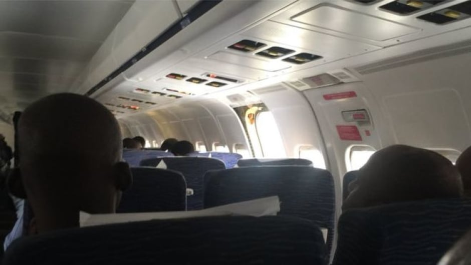 Nigerian airline blames passengers after exit door falls off