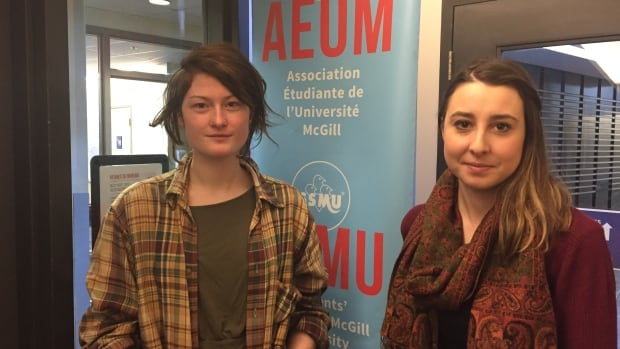 Students' Society of McGill University vice-president Connor Spencer, left, pictured with Caitlin Salvino, says SSMU is developing its own sexual violence policy after a student executive was forced to resign last year over allegations of sexual misconduct.