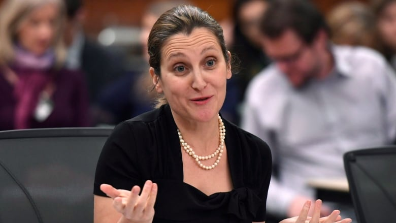Freeland's proposal to join Arms Trade Treaty called inadequate