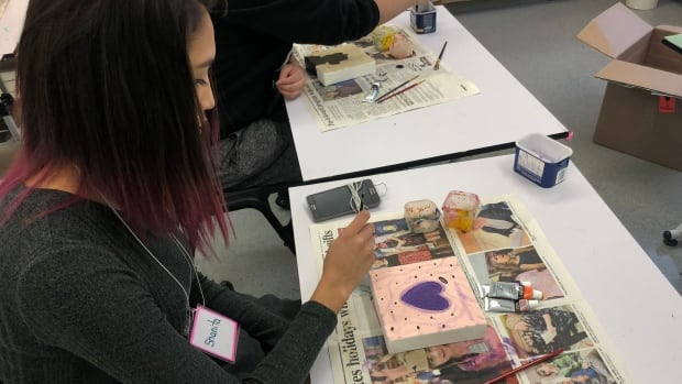The conference was organized by the Dehcho Divisional Education Council following a number of suicides in the community over the summer. Students took part in several workshops, including art therapy.