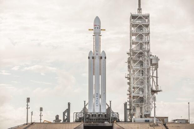 Falcon Heavy launch pad