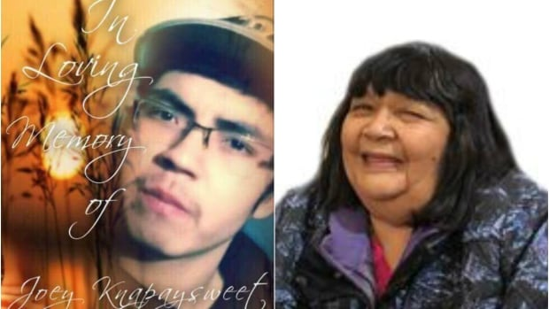 Joey Knapaysweet, left, and Agnes Sutherland are being mourned and remembered in separate services in Fort Albany, Ont., today. Both died in Timmins, Ont., over the weekend after separate interactions with the local police.