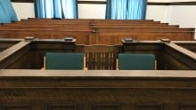 Gerald Stanley defendant box in Battleford