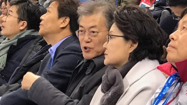 South Korean President Moon Jae-in had quite a day on Saturday, lunching with the North Korean delegation and getting an invite to visit North Korea, and then hosting U.S. Vice-President Mike Pence at the short track speed skating in the evening.