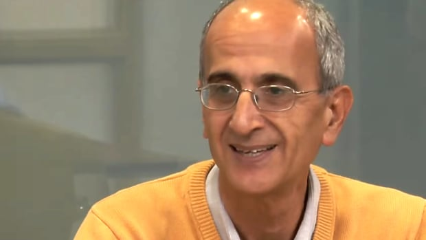 Environmental activist Kavous Seyed-Emami speaks at the University of Lethbridge in October 2017.