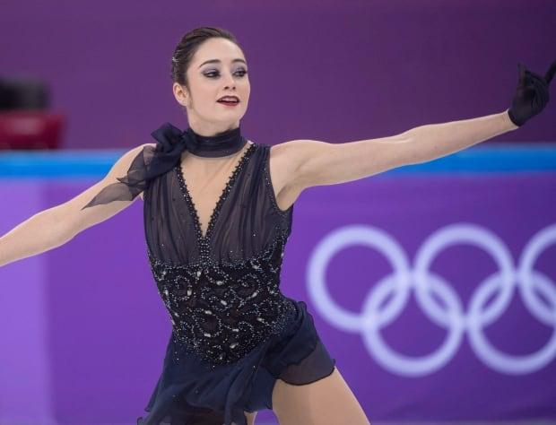 Kaetlyn Osmond at Pyeonchang  winter Olympics Feb. 11