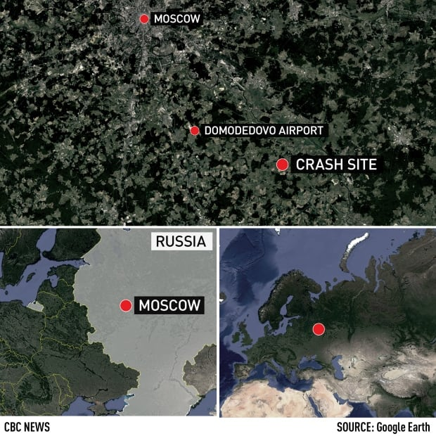 An-148 regional plane crash near Moscow