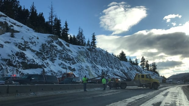 The crash occurred near the top of Larson Hill, south of Kingsvale.