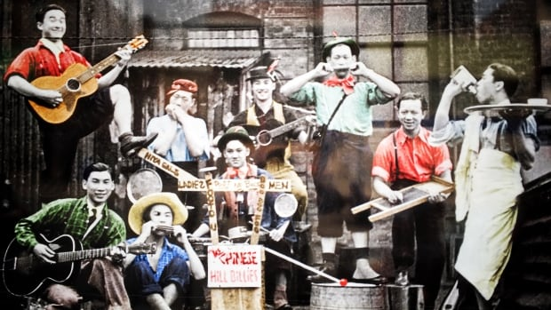 Shon Wong's father, James, is pictured far right. He was a member of the Chinese Hillbillies band, which formed in Vancouver's Chinatown.