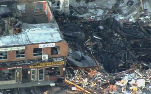 Mississauga explosion aerial