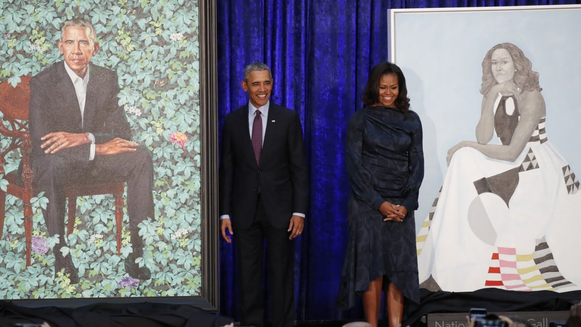 National Portrait Gallery unveils Obama portraits in Washington