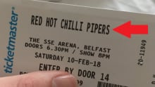 red hot chilli pipers ticket